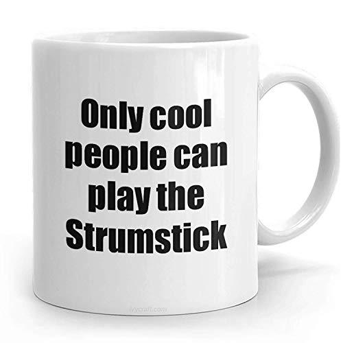 N\A PassionWear Strumstick Player Becher Musiker Lustige Geschenkidee Gag Kaffee Teetasse Urkomisches Geschenk für