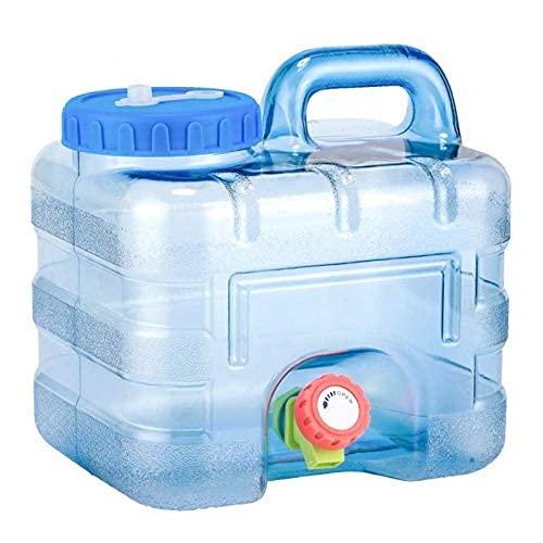 CSPone 7,5L Wasserkanister mit hahn Tragbarer Eimer Auto Wasserbehälter mit Hahn BPA-frei Kunststoff Verdickt Platz Camping Wassertank für Outdoor Reise Kampführung Hause Trinkder Speicher-Eimer