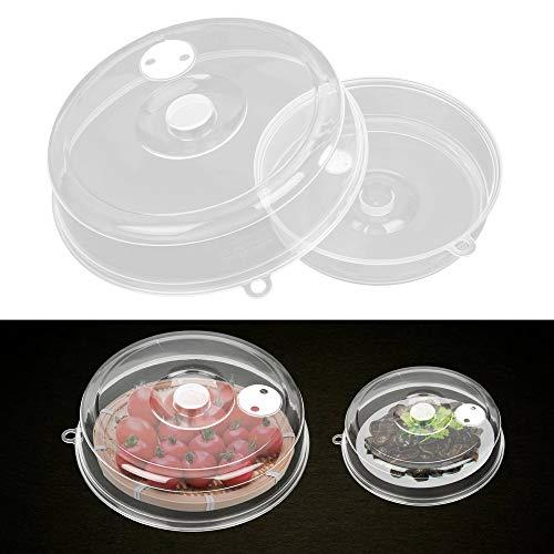 Couvercle de cuve pour four à micro-ondes - Couvercle transparent - Couvercle pour ustensiles de cuisine - 3 pièces - 17,5 cm - 9 cm - 17 cm - 3 pièces - Blanc