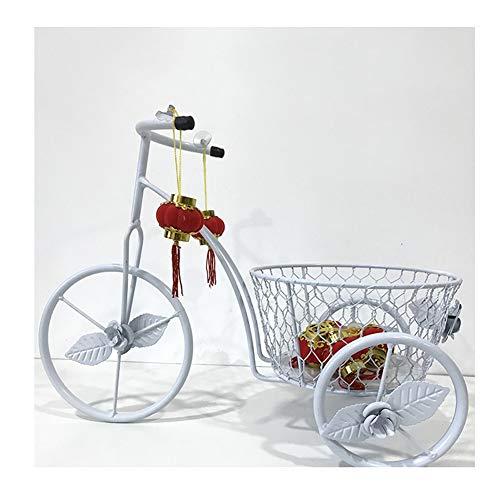 GZHENH Estantería De Flores Bicicleta Decoración Capacidad De Carga Fuerte Durable Arte De Hierro 4 Colores (Color : Blanco, Tamaño : 39x19x28cm)