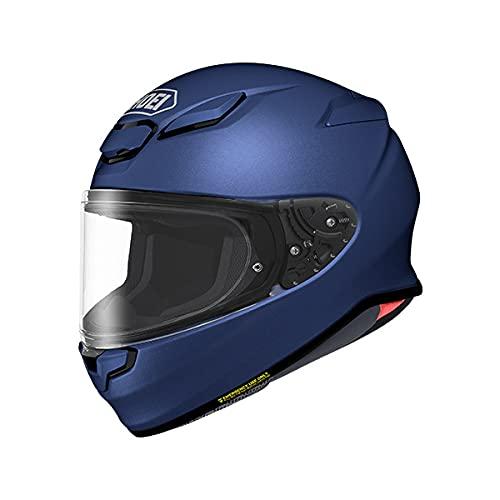 SHOEI ヘルメット Z-8 新型 フルフェイス Z8 バイク メンズ レディース かっこいい おしゃれ シンプル 単色 公道 ツーリング 通販 カラー:マットブルーメタリック サイズ:M