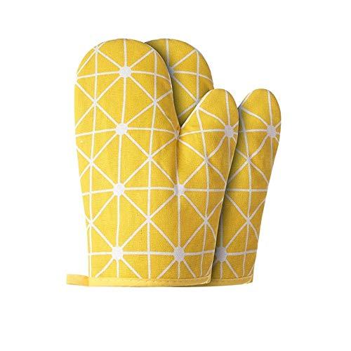 Huishoudelijke katoenen en linnen bakhandschoenen, geschikt voor magnetron handschoenen, warmte-isolatie pads, pot matten, barbecue ijzeren handschoenen