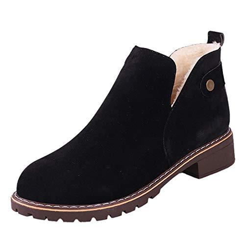 Zapatos De Mujer,RETUROM Botas De Mujer Botines Mujer Invierno OtoñO Plano Pierna Alta Ante Casual Largo Alto Botas De Color SóLido Plana Martin Altas Botas Largas Zapatos Casuales