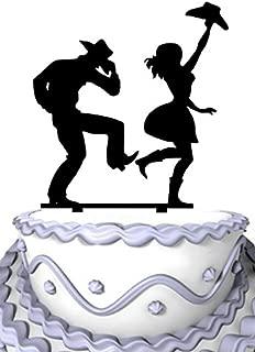 Meijiafei Cowgirl and Cowboy Dancing Wedding Anniversary Acrylic Decoration