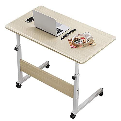 GJ Escritorio para ordenador, mesita de noche, mesa auxiliar para sofá, mesa de café, altura ajustable (69 – 90 cm), para el hogar, dormitorio, dormitorio de estudiantes (color: A, tamaño: 60 x 40 cm)