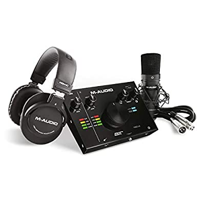 M-Audio AIR 192|4 Vocal Studio Pro - Complete Recording Package - 2-In/2-Out USB Audio Interface with Condenser Microphone, Shockmount, XLR Cable, Headphones and Pro Software Suite by inMusic Europe Limited