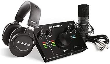 M-Audio - Complete Recording Bundle - USB Audio Interface, Microphone, Shock mount, Cable, Headphones and Software Suite - AIR 192 4 Vocal Studio Pro