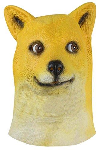 Miyaya@ Funny Doge Dog Animal Head Mask for Mask Festival、halloween、easter or Dance Party