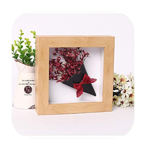 Frames 3D Photo Frame Hollow Depth 3Cm for Flowers,Plant,Pins, Medals,Tickets and Photos Dispaly, Shadow Box for DIY Art Crafts Display-Nature-Inner Size 15X20Cm