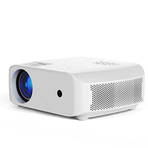 Mini Projector, VIVIBRIGHT f10 Portable Projector, Full HD 1080P Supported Video Projector, 3800White Light Brightness Home Theater Projector, Compatible with TV Stick, Laptop, PS4(White)