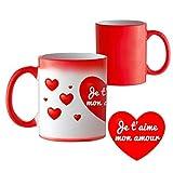 Mug Magique avec Motif Romantique - Je t'aime Mon Amour - Tasse thermosensible Qui...