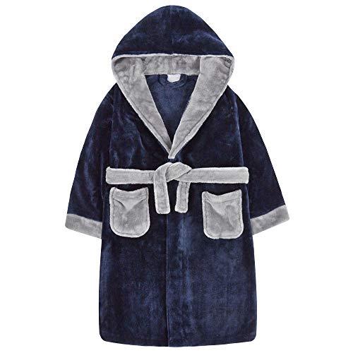 JACK NORTH - Albornoz con capucha para niños con mangas...