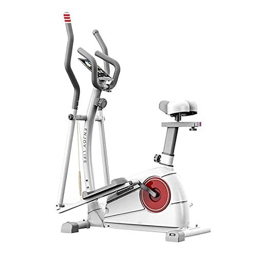 Máquina Elíptica con Asiento, Bicicleta Elíptica Portátil para Ejercicio Aeróbico, Equipo de Cardio Fitness con Monitor LCD y Resistencia Magnética Ajustable TDD