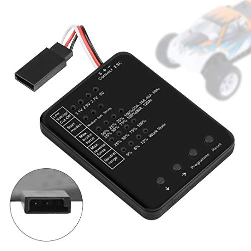 Crazepony-UK RC Car Program Card Electronic Speed Controller Programmer for RC Car 25A- 150A Brushless ESC