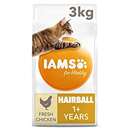 Iams for Vitality Cat Food for Hairball Control with Fresh Chicken