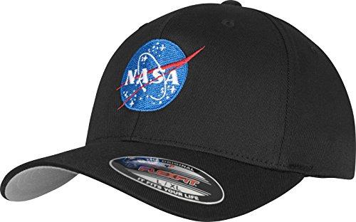 Mister Tee NASA Logo Flexfit Cap, Schwarz, Größe L/XL