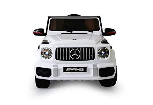 Babycar Mercedes G63 AMG ( Bianco ) Nuova Versione Macchina Elettrica per Bambini Ufficiale con Licenza 12 Volt Batteria con Telecomando 2.4 GHz Porte Apribili con MP3