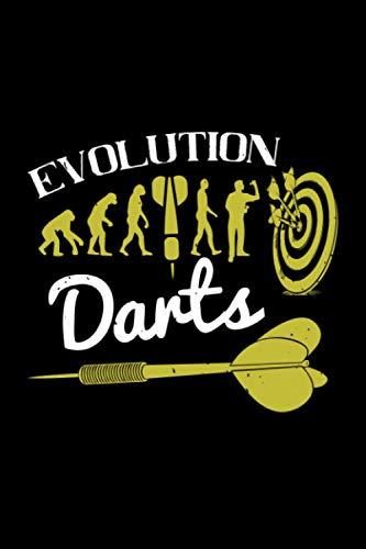 Dart Notizbuch evolution darts: wunderschönes Darts Notizbuch kariert 120 Seiten Din A5 Geschenk für Dartspieler
