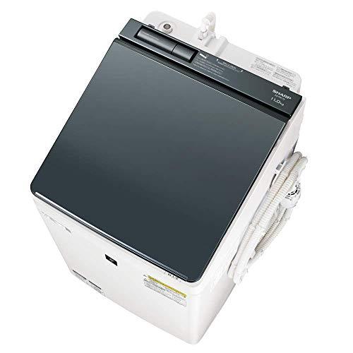 シャープ SHARP 洗濯機 洗濯乾燥機 ES-PW11E-S ガラストップ 穴なし槽 インバーター 11kg シルバー プラズマクラスター搭載