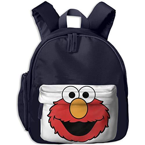 Zhenzhan Lightweight Kids Toddler Bookbag Elmo's Smile Face Printed Bags For Children