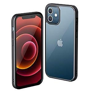 NIMASO 携帯ケース iPhone 12 mini 用 ケース アイフォン 12 ミニ 対応 軽量 カバー 背面クリア 黄変防止 耐衝撃 ワイヤレス充電対応 シンプルデザイン バンパー