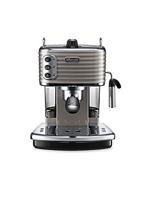 De'Longhi Scultura Traditional Barista Pump Espresso Machine, Coffee and Cappuccino Maker, ECZ351BG, Champagne