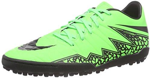 Nike Herren Hypervenom Phelon II TF Fußballschuhe, Grün (Green Strike/Black-Black), 42 EU