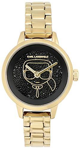 Karl lagerfeld Jewelry ikonik Damen Uhr analog Quarzwerk mit Edelstahl Armband 5513086