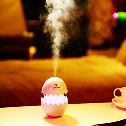 Mini coche 1L forma de huevo difusor de aroma ultrasónico humidificador creador de niebla humidificador de niebla USB colorido 5V luz nocturna