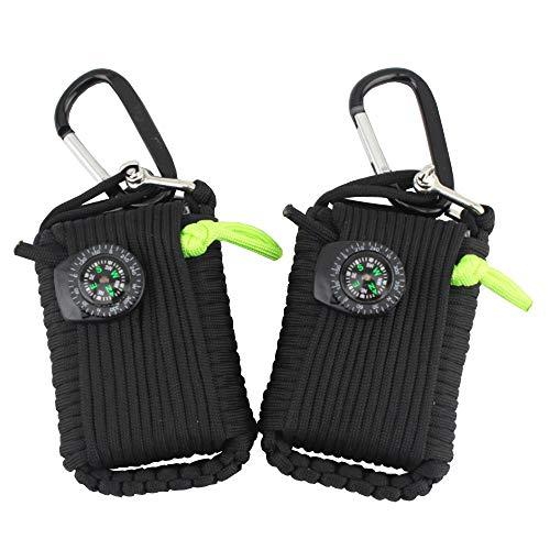 Easenhub - Kit di primo soccorso per esterni, 73,7 cm, corda per ombrello da viaggio, tessuto a mano, kit di sopravvivenza per alpinismo