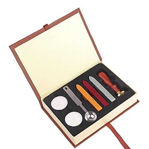 1set Holz Stempel Personalisierte Siegel Stempel Anfangsbuchstabe Weinlese-Alphabet Wachs-siegel-Stempel Für Die Karte