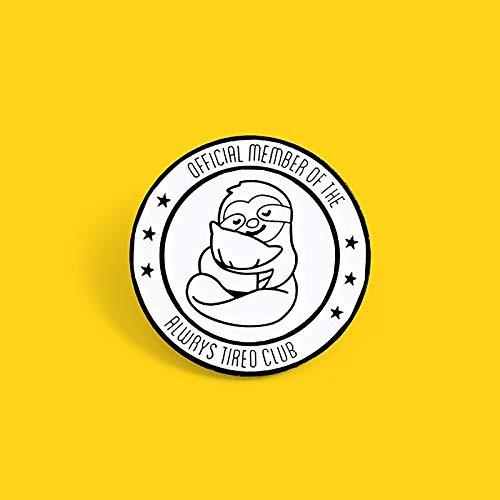 MIEMBRO OFICIAL DEL ALWRYS CLUB broche pin Almohada perezosa insignia de bebé...