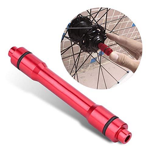 Dilwe Fahrrad Quick Release Hub, Aluminiumlegierung Steckachse Adapter 15mm bis 12mm Schnellspanner Bike Spieß Adapter für Rennrad Mountainbike (Rot)