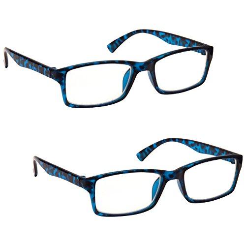 Uv Reader Gafas De Lectura Azul Carey Lectores Valor Pack 2 Hombres Mujeres Uvr2092Bl +2,00 2 Unidades 70 g