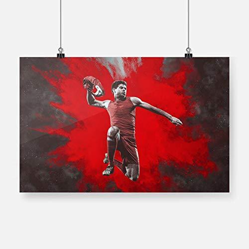 EUpMB Cuadros Modernos Impresión de Imagen Artística Digitalizada Steven Gerrard 70x45cm Material Tejido no Tejido Impresión Artística Imagen Gráfica Decoracion de Pared
