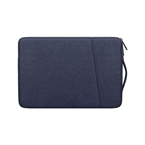 Portable Waterproof Laptop Case Notebook Sleeve 13.3 14 15 15.6 Inch for MacBook Pro Computer PC Bag HP Acer Xiami ASUS Lenovo (Color : Navy Blue, Size : 15 inch)