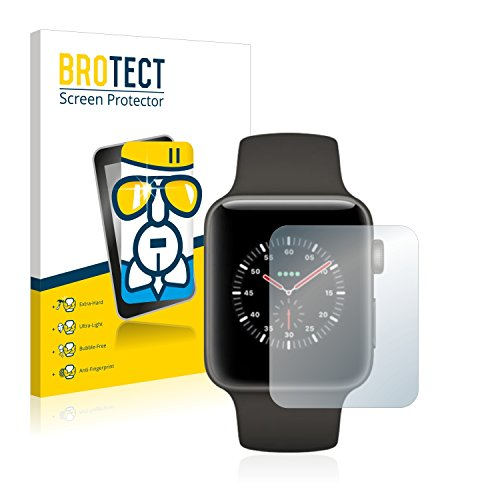 BROTECT Panzerglas Schutzfolie kompatibel mit Apple Watch Edition Series 3 (42 mm) - AirGlass, extrem Kratzfest, Anti-Fingerprint, Ultra-transparent