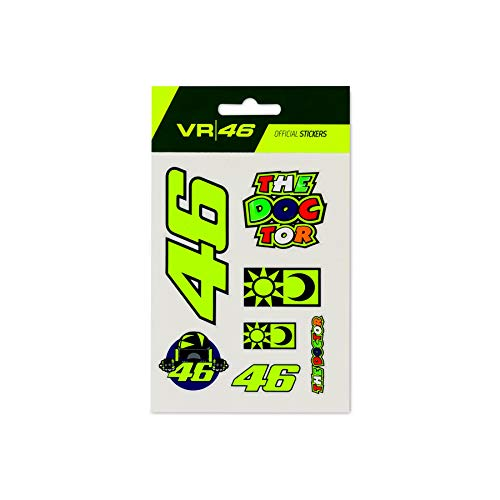 Valentino Rossi VR46 Classic Aufkleber, Unisex, mehrfarbig, einzigartig