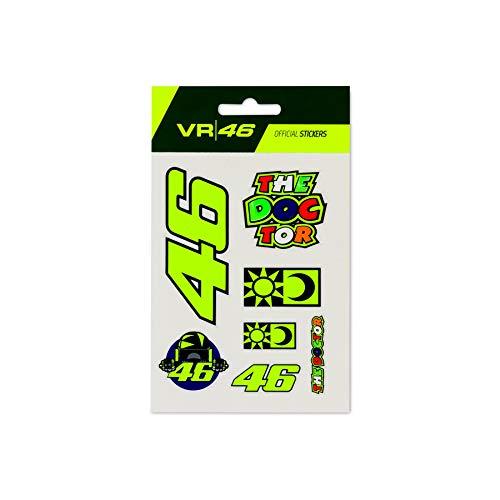 Valentino Rossi Colección VR46 Classic, pegatinas unisex, multicolor, única