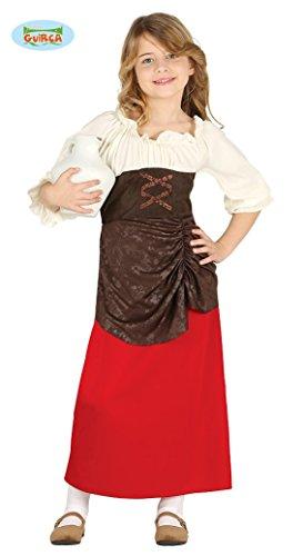 Guirca Costume vestito locandiera medievale carnevale bambina 8755_ 7-9 anni