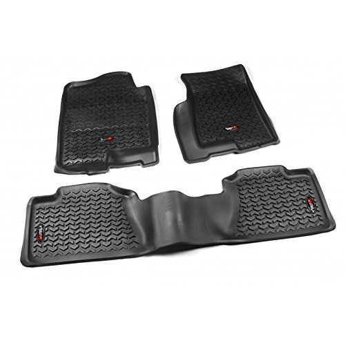 Rugged Ridge 82989.02, All Terrain Floor Liner Kit, Front/Rear, Black, 1999-2006 Chevrolet / GMC Silverado / Sierra