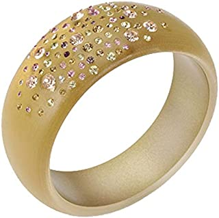 Champagne Resin Bangle with Cubic Zirconia Detail
