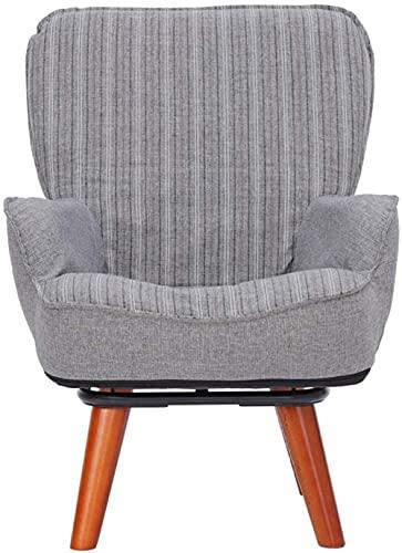 Sillón tapizado giratorio de tela ajustable, estilo casual, silla de comedor, silla de recepción, con funda de tela extraíble para cocina, comedor