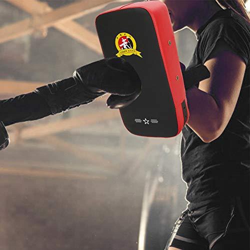 Ufolet Escudo de Patadas, Guantes de Boxeo, Almohadillas de Objetivo de Boxeo, Rojo + Negro para Entrenamiento de Boxeo Taekwondo(40 * 21 * 11cm-Red)