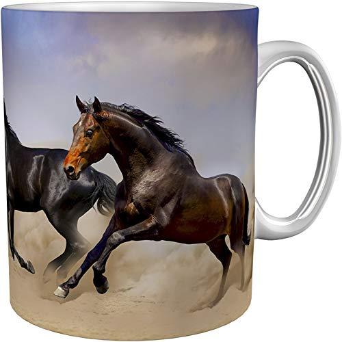 metALUm Kaffeetasse Pferde # 330010049