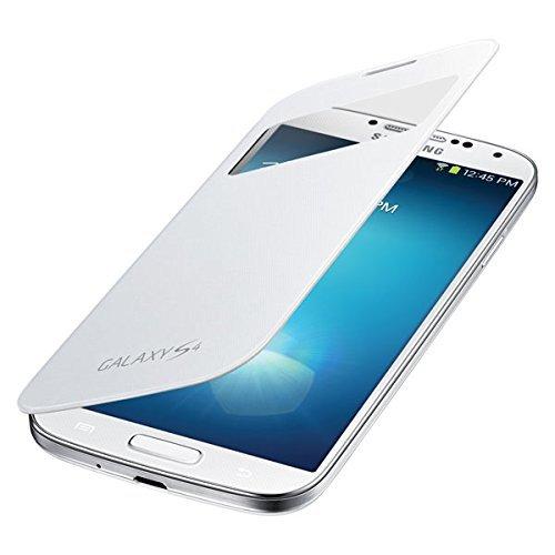 Samsung EF-TI950BWEGWW S-View Cover für Samsung Galaxy S4 weiß
