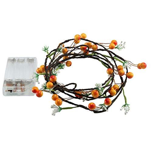 LAANCOO La Flor Artificial de la Noche Las Luces de la Fruta de la Vid Hada Cadena Luces Led Decorativa con Pilas de Navidad de la Boda del jardín de cumpleaños