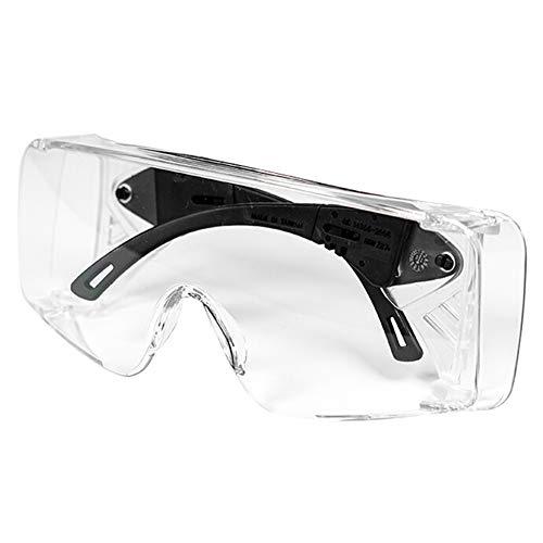 Schutzbrille Transparent Arbeitsschutzbrillen - Labor Arbeitsplätze Chemie - Anti beschlag Anti Staub Spritzwassergeschützte Gegen viren Kratzfest Spritzfest - Erwachsener - Augenschutz