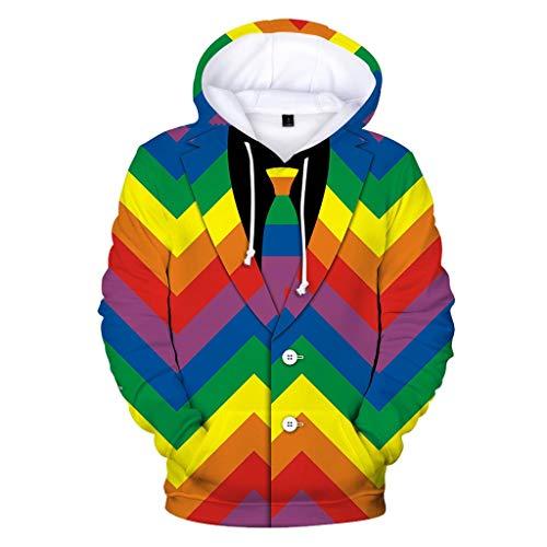 FRAUIT vrouwen lange mouwen capuchon mannen pak patroon 3D print sweatshirt trui top outwear coat blouse sport vrije tijd
