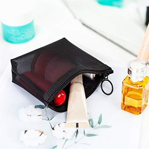PoplarSun 1PCS Femmes Sac cosmétique Mode Voyage Transparent Petit Grand Maquillage Noir Sacs de Toilette Organisateur Housse (Color : S 12x3x8.5cm)